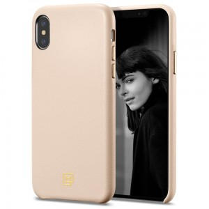 Etui do iPhone X/XS Spigen La Manon Calin One [blady róż]
