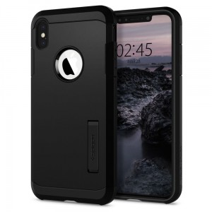 "Etui do iPhone X/XS (5.8"") Spigen Tough Armor [czarne], Pancerne"