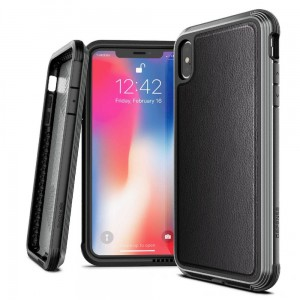 Etui do iPhone X/XS X-Doria Defense Lux IPHONE ( czarne, skórzane)
