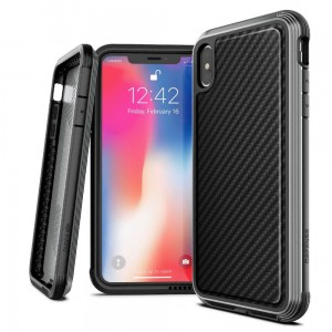 "Etui do iPhone X/XS (5.8"") X-Doria Defense Lux [czarny carbon]"