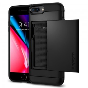 "Etui do iPhone 7+/8 Plus (5.5"") Spigen Slim Armor CS [czarny]"