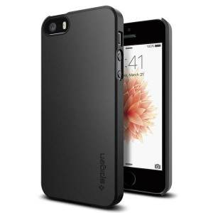 Etui do iPhone SE/5/5S Spigen Thin Fit [czarny]