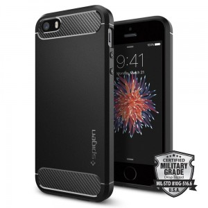 Etui do iPhone SE/5/5S Spigen Rugged Armor [czarny]