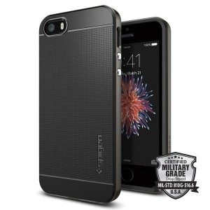 Etui do iPhone SE/5/5S Spigen Neo Hybrid [ciemno szary]