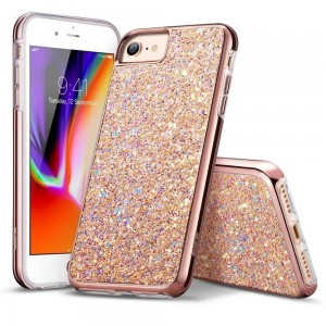 "Etui do iPhone 7/8 (4.7"") ESR Sparkly Sequins [różowo złoty]"