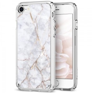 SPIGEN ULTRA HYBRID 2 IPHONE 7/8 MARBLE CARRARA WHITE