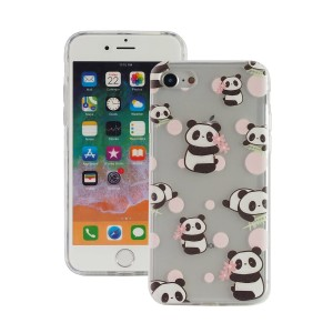"Fashion Case Print Back [Panda & Pink], Etui silikonowe na iPhone 7/8 (4.7"")"