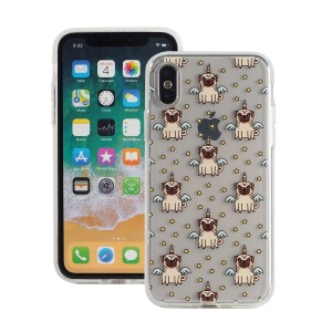 "Etui do iPhone X/XS (5.8"") Fashion Case Print Back [Unicorn Pug],"