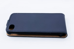 Etui Geffy iPhone 4/4S Eco Leather Flip [czarne]