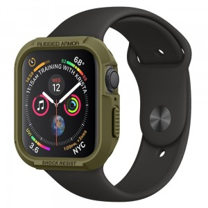 Etui ochronne do Apple Watch 4/5 (40mm) Spigen Rugged Armor [oliwkowa zieleń]