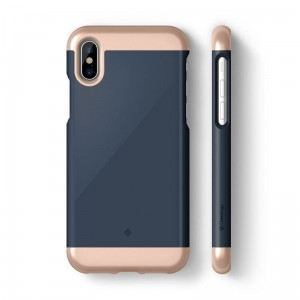 "Etui do iPhone X/XS (5.8"") Caseology Savoy Case [granatowy]"