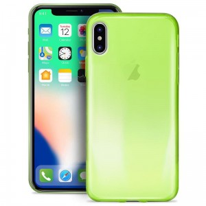 "Etui do iPhone X/XS (5.8"") Puro 0.3 Nude [fluo zielony]"