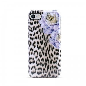 Etui do iPhone 6/6S/7/8 Puro Glam Sweet Leopard [leo peonies]