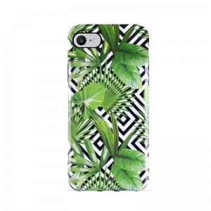 Etui do iPhone 6/6S/7/8 Puro Glam Tropical Leaves [geometric jungle]