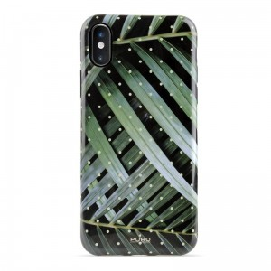 "Etui do iPhone XS MAx (6.5"") Puro Glam Tropical Leaves [brilliant leaves]"