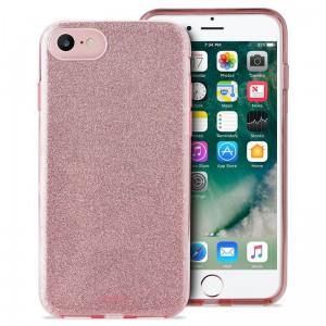 Etui do iPhone 7/8/SE 2020 Puro Glitter Shine Cover [różowo złoty]