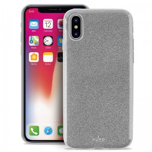 "Etui do iPhone X/XS (5.8"") Puro Glitter Shine Cover [srebny]"