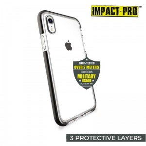 Etui do iPhone XR Puro Impact Pro Flex Shield [czarny]