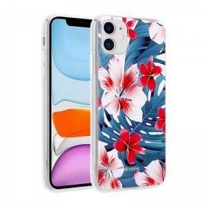 Etui do iPhone 11 Crong Flower Case [czerwone kwiaty]