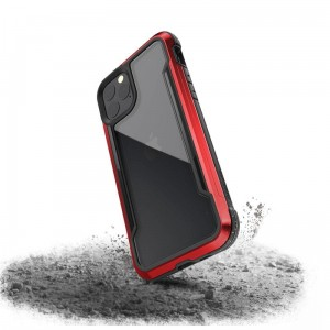 Etui do iPhone 11 Pro X-Doria Defense Shield (etui aluminiowe - test upadku 3M) [czerwony]