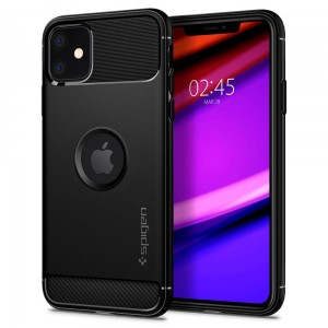 Etui do iPhone 11 Spigen Rugged Armor [czarny mat]