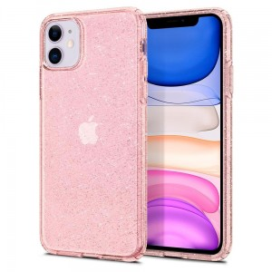 Etui do iPhone 11 Spigen Liquid Crystal [różowe złoto - brokatowe]