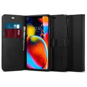 Etui do iPhone 11 Spigen Wallet S z klapką [czarny]