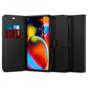 Etui do iPhone 11 Pro Spigen Wallet S z klapką [czarny]