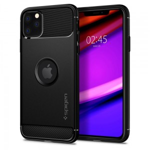 Etui do iPhone 11 Pro Max Spigen Rugged Armor [czarny mat]