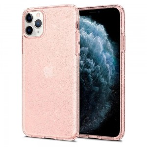 Etui do iPhone 11 Pro Max Spigen Liquid Crystal [brokatowe - różowe złoto]