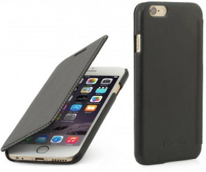 Etui z klapką do iPhone 6 Plus Stilgut [czarne]