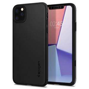 Etui do iPhone 11 Pro Max Spigen Thin Fit Classic [czarny]