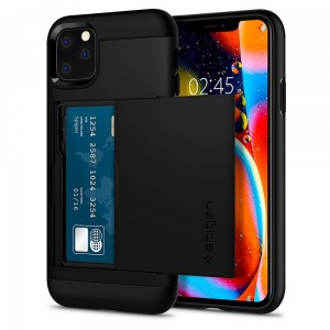 Etui do iPhone 11 Pro Max Spigen Slim Armor CS [czarny]