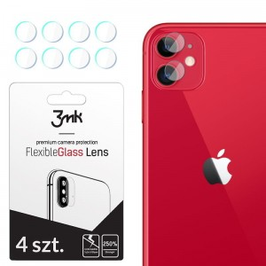 Szkło hybrydowe na aparat do iPhone 11 3MK FG Camera Lens