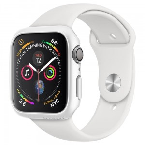 Etui ochronne do Apple Watch 4/5/6/SE (44mm) Spigen Thin Fit [białe]