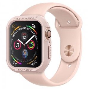 Etui ochronne do Apple Watch 4/5 (40mm) Spigen Rugged Armor [różowo złoty]
