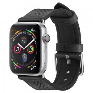 Pasek do Apple Watch 1/2/3/4/5/6/SE (38/40 mm) Spigen Retro Fit [czarny]