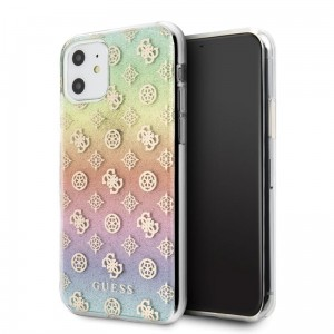Etui do iPhone 11 Guess 4G Peony Electroplated Pattern [tęczowy]