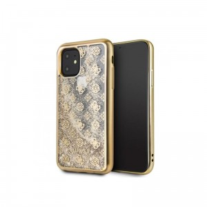 Etui do iPhone 11 Guess 4G Peony Liquid Glitter [złoty]