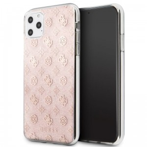 Etui do iPhone 11 Pro Max Guess 4G Peony Solid Glitter [różowy]