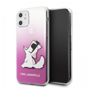 Etui do iPhone 11 Karl Lagerfeld Choupette Fun Sunglasses [różowy]