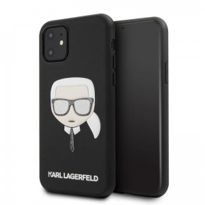 Etui do iPhone 11Karl Lagerfeld Iconic Embossed Glitter Case [czarny]