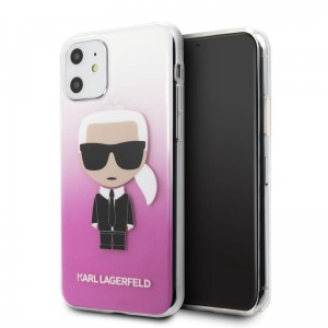 Etui do iPhone 11 Karl Lagerfeld Iconic Karl Gradient [różowy]