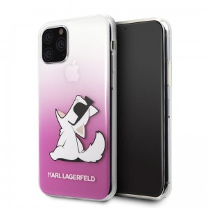 Etui do iPhone 11 Pro Karl Lagerfeld Choupette Fun Sunglasses [różowy]