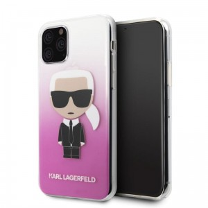 Etui do iPhone 11 Pro Karl Lagerfeld Iconic Karl Gradient [różowy]
