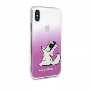 "Etui do iPhone X/XS (5.8"") Karl Lagerfeld Choupette Fun Sunglasses [różowy]"