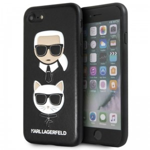 "Etui do iPhone 7/8 (4.7"") Karl Lagerfeld Embossed Case Karl & Choupette [czarny]"