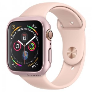 Etui ochronne do Apple Watch 4/5 (40mm) Spigen Thin Fit [różowo złoty]
