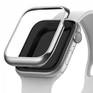 Etui ochronne do Apple Watch 4/5/6/SE (44mm) Ringke Bezel Styling [błyszczący srebny]