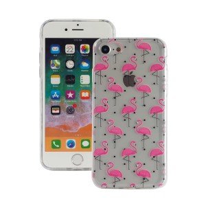 "Fashion Case Print Back [Pink Flamingo], Etui silikonowe na iPhone 7/8 (4.7"")"